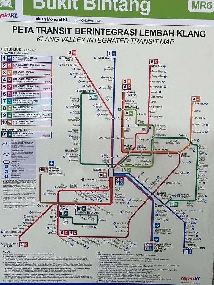 マレーシア路線図