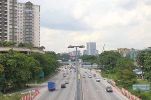 発展途上中の中心街